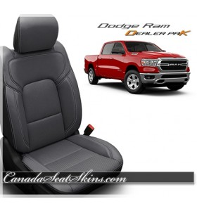 2019 - 2021 Dodge Ram Katzkin Leather Seat Promo Package Grey