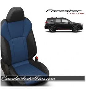 2019 Subaru Forester Black and Pacific Katzkin Leather Seats