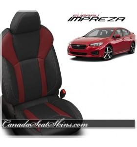 2017 - 2019 Subaru Impreza Custom Medium Red Katzkin Leather Upholstery