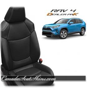 2019 - 2020 Toyota Rav 4 Dealer Pak Leather Seat Upholstery Kit in Black