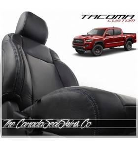 Toyota Tacoma Custom Black Leather Seats Sales Photo