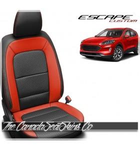 2020 - 2021 Ford Escape Custom Katzkin Salsa Red Leather Seat Sale