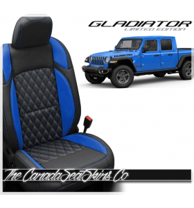 Jeep Gladiator Custom Diamond Stitched Leather Seats