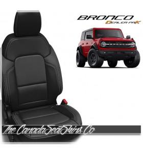 2021 - 2022 Ford Bronco Full Size Black Katzkin Dealer Pak Leather Seat Promotion