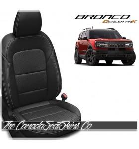 2021 - 2022 Ford Bronco Sport Black Katzkin Dealer Pak Leather Seat Promotion