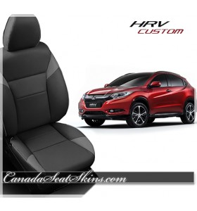 2016 - 2019 Honda HRV Charcoal Katzkin Leather Seats