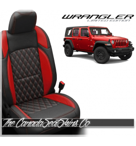 2018 - 2020 Jeep Wrangler JL Katzkin Tekstitch Red Leather Seats