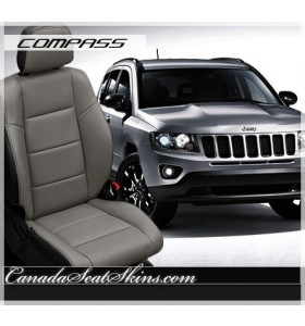 2014 - 2015 Jeep Compass White Leather Seats