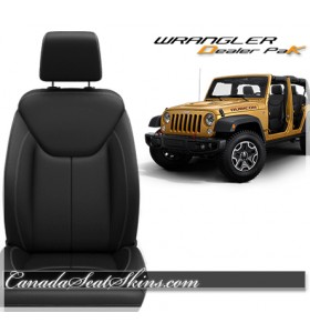 Jeep Wrangler JK Black Leather Seat Kit