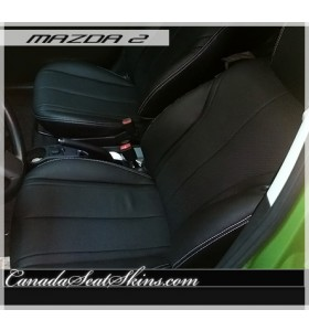 2011 - 2014 Mazda 2 Custom Black Leather Seats