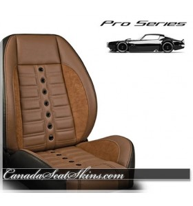 Restomod Race Leather Seats in Saddle Brown