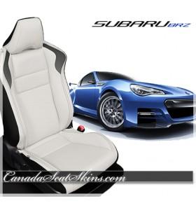 2013 - 2019 Subaru BRZ Katzkin White Leather Seats
