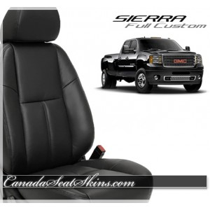 2007 - 2013 GMC Sierra Katzkin Leather Seat Cover Kit