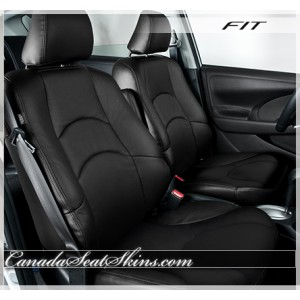2009 - 2013 Honda Fit Katzkin Black Leather Seats
