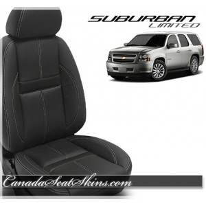 2010 - 2014 Chevrolet Suburban Katzkin Limited Edition Carbon Shadow Leather Seats