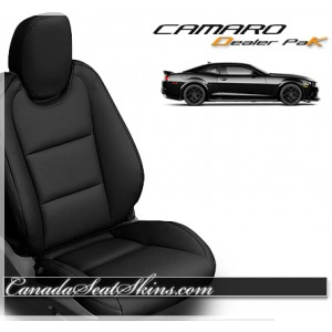 2010 - 2015 Chevrolet Camaro Black Leather Seats