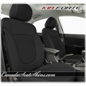 2011 - 2013 Kia Forte Black Katzkin Leather Seats