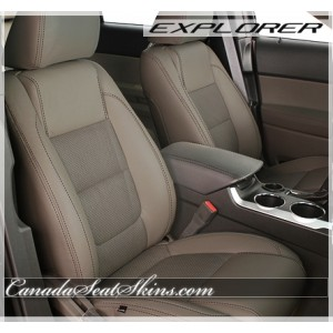 2011 - 2015 Ford Explorer Beach with Taupe Suede Leather Seats