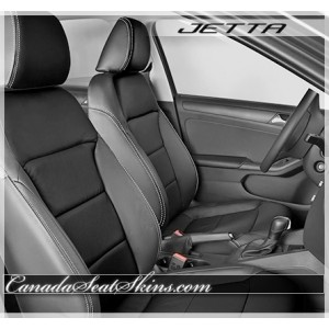 2011 - 2015 Volkswagen Jetta Black Leather Seats