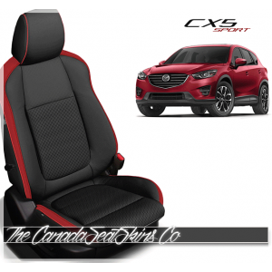 2013 - 2016 Mazda CX5 Sport Custom Red Leather Seats