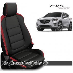 2013 - 2016 Mazda CX5 Black and Red Custom Leather Seats