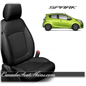 2013 - 2018 Chevrolet Spark Katzkin Black Leather Seats