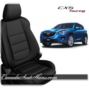 2013 - 2015 Mazda CX5 Katzkin Black Leather Seats