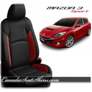 2014 - 2016 Mazda 3 Sport Black Katzkin Leather Seats