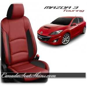 2014 - 2018 Mazda 3 Touring Red Katzkin Leather Seats