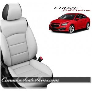 2011 - 2015 Chevrolet Cruze Katzkin Leather Seats White