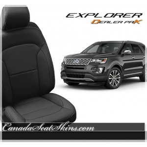 2016 - 2019 Ford Explorer Dealer Pak Leather Seats Black