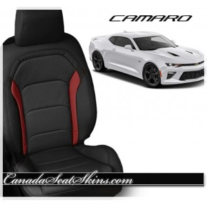 2016 - 2019 Chevrolet Camaro Red Custom Katzkin Leather Seats