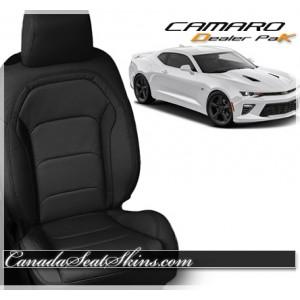 2016 - 2018 Chevrolet Camaro Black Leather Seats