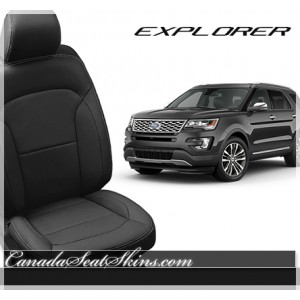 2016 2017 2018 2019 Ford Explorer Black Katzkin Leather Seats