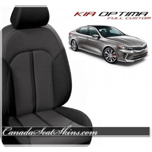 2016 - 2018 Kia Optima Black and Grey Katzkin Leather Seats