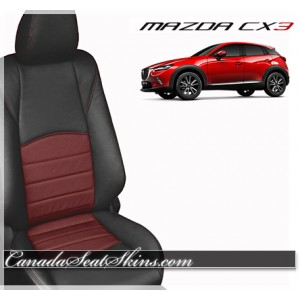 2016 2017 2018 Mazda CX3 Red Katzkin Leather Seats