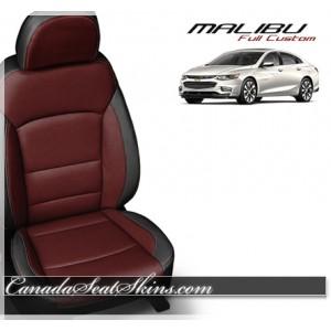 2017 2018 2019 Chevrolet Malibu Medium Red Katzkin Leather Seats