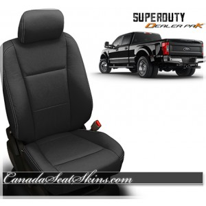 2017 - 2018 Ford F250 F350 Katzkin Black Leather Seats