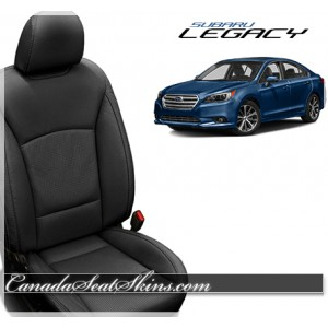 2015 - 2018 Subaru Legacy Katzkin Black Leather Upholstery