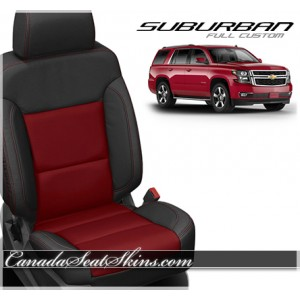 2015 - 2018 Chevrolet Suburban Katzkin Red Leather Seats