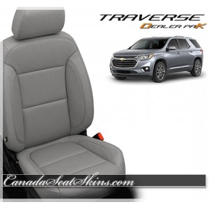 2018 - 2019 Chevrolet Traverse Dealer Pak Leather Upholstery Kit Ash