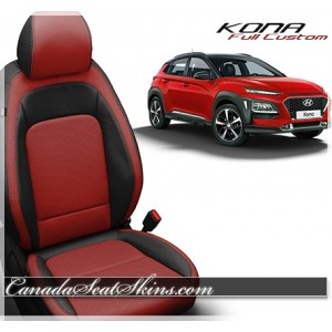 2018 - 2019 Hyundai Kona Katzkin Red Leather Seats