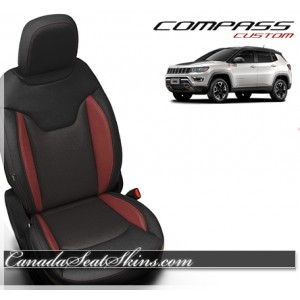 2017 - 2018 Jeep Compass Custom Katzkin Leather Seats