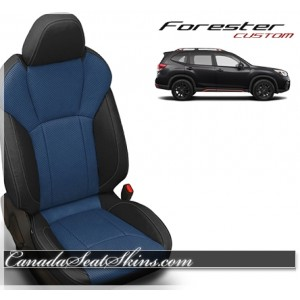 2019 Subaru Forester Black and Pacific Katzkin Leather Seats