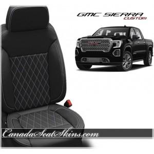 2019 GMC Sierra Crew Cab Katzkin Tekstitch Single Diamond Stitched Seats