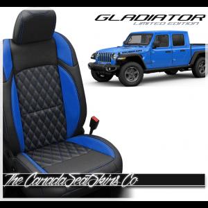 Jeep Gladiator Custom Diamond Stitched Leather Seats