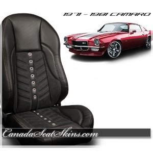 1971 - 1981 Camaro TMI Sport VXR Restomod Bucket Seats Black
