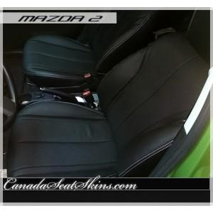 Mazda 2 Custom Black Leather Seats