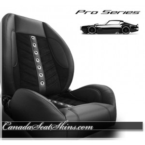 TMI VXR Pro Series Restomod Bucket Seats Black