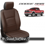 2009 - 2021 Dodge Ram DS Black and Coffee Custom Leather Seat Kits